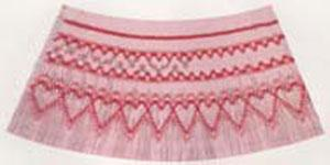 Ellen McCarn EM021 Be Mine Smocking Plate Pattern with Colors