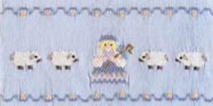 Ellen McCarn Bo Peep & Friends Smocking Plate