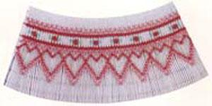 Ellen McCarn EM077 Camille Smocking Plate, Color Pattern