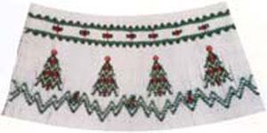 Ellen McCarn EM094 Christmas Trees Smocking Plate Color Pattern