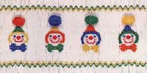 Ellen McCarn Clowns Smocking Plate