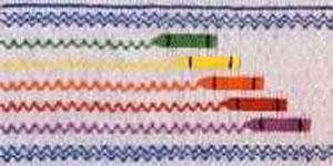 Ellen McCarn EM095 Crayon Rainbow Color Smocking Plate Sewing Pattern