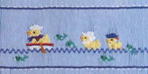 Ellen McCarn Ducks Ahoy! Smocking Plate