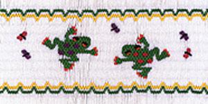 Ellen McCarn EM211 Fun Froggies Smocking Plate