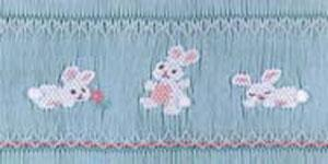 Ellen McCarn EM059 Honey Bunnies Smocking Plate