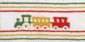 Ellen McCarn EM156 Jenksy's Train, Color Smocking Plate