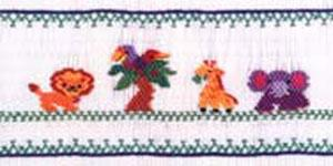 Ellen McCarn Jungle Friends Smocking Plate