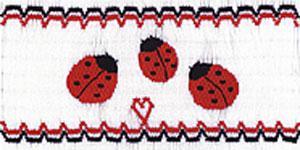 Ellen McCarn Ladybug Family Smocking Plate