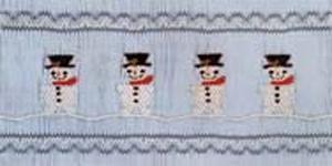 Ellen McCarn Ryan's Snowmen Smocking Plate