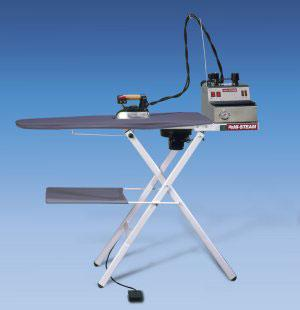 "Hi Steam, PND 1000AC, Heated ,Vacuum Suction, Ironing Board, 55x15"", Heated Surface, Foot Control, Folding Legs, (Like Reliable C91"