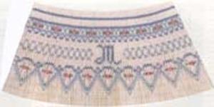 Ellen McCarn EM183 Script Monograms Smocking Plate