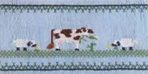 Ellen McCarn Sheep in the Meadow Smocking Plate