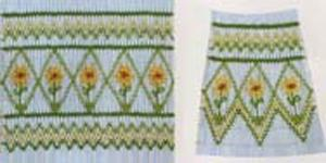 Ellen McCarn Sunflowers Smocking Plate
