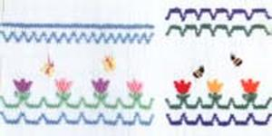 Ellen McCarn Tiny Tulips / Bees / Butterflies Smocking Plate