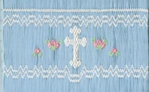 Ellen McCarn EM215 Religious Crosses Smocking Plate, Sewing Pattern, Design, Thread Colors