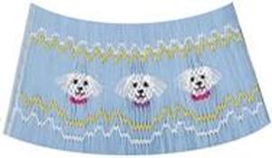 Ellen McCarn Puppy Pals Smocking Plate