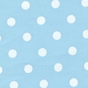Fabric Finders 15 Yd Bolt 9.34 A Yd  #469 Blue & White Dots 100% Pima Cotton Fabric