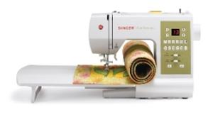 Singer 7469Q 98 Stitch Confidence Quilter, Computer Sewing Machine, Ext Table, 7x1-Step ButtonHoles , 5 Feet, Drop In Bobbin, Threader, Drop Feednohtin