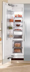 "Miele F1411SF Freezer, 18"", Prefinished Fully-Integrated Stainless Steel, Left Hinge"