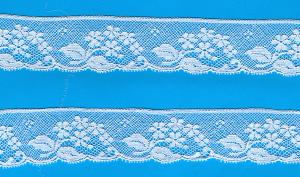 Capitol Imports 634 French Val Lace, White 1.5 Inches Wide