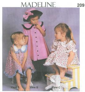 Childrens Corner CC209 Madeline Dress Sleeve Panty Hat Sewing Patterns