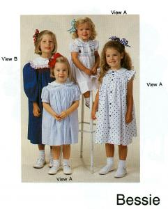 Childrens Corner Bessie Yoke Dress Sewing Pattern Choose Size 1-4