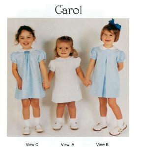 Childrens Corner, CC015, cc15,  Carol, Jenni Leigh, Revised, Dress Sewing Pattern, Size 6 mo., 12 mo., 18 mo