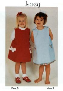 Childrens Corner, Lucy, Jumper, or Sun Dress, Sewing Pattern, Size 1-4