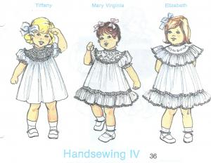 Childrens Corner French Handsewing IV Pattern Sizes 1-2
