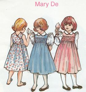Childrens Corner, Mary De, Dress, Sewing Pattern, Size 3-4