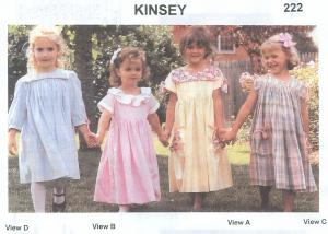 Childrens Corner CC222 Kinsey Square Neckline Dress Sewing Pattern, Sizes 5-8