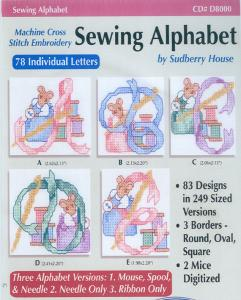 Sudberry House D8000 Sewing Alphabet Multi-Formatted CD