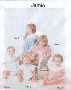 Childrens Corner CC205 Jamie Smocked Baby Bubble Sewing Pattern Sizes 3mo-24mo