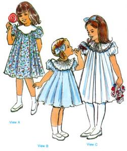 Childrens Corner CC026 Kathy and Kelley Dress Sewing Pattern Sizes 5-8