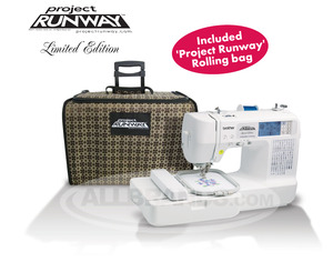 Brother, LB6800PRW, RLB6800, RLB6800PRW, BRO-LB6800PRW,  LB-6800PRW, LB6800, Project Runway, Roll,Bag, Computer, 67 Stitch, Sew, 4x4, Embroidery Machine, 4 Downloads* USB Cable, 70 Designs, 5 Fonts, 10 BH, Thread  Trim, 8 Feet, ONLINE