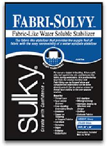 "Sulky 407-08 Fabri-Solvy Firm, Washaway Stabilzer 8"" Inches x 9yd Yard Roll, for embroidery, cut-work, lace making and appliquel"