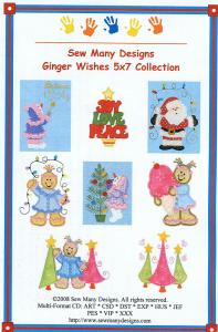 Sew Many Designs Ginger Wishes Applique Collection Multi-Formatted CD