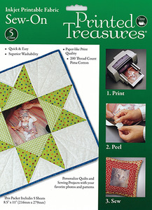 Dritz 7219A Printed Treasures 5 Transfer Sheets 8.5x11""