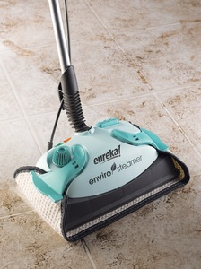 "Eureka, 313A, Enviro, Steamer, Hard Floor, Steam Cleaner, by Electrolux, 12.5"" Wide,  6.5A, 800W, 25' Cord Wrap, Add Water Light, Funnel, Extra Magic Cloths"