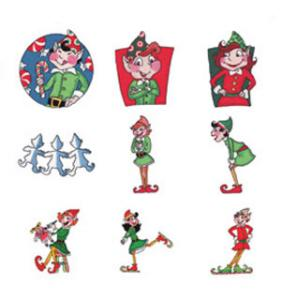 "Amazing Design ADC-99 Busy Elves 4"" x 4"" designs Multi-Format CD"