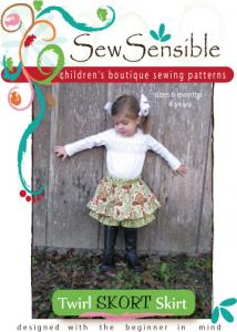 Sew Sensible Boutique Twirl Skort Skirt Pattern On CD
