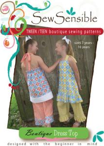 Sew Sensible Tween Teen Boutique Dress Top Pattern On CD