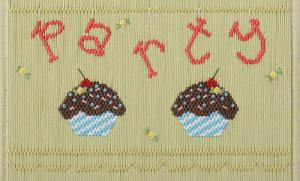 Little Memories Cupcake Party 166 Smocking Plate