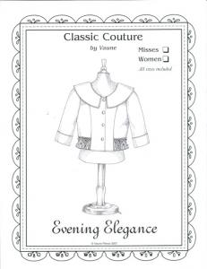 "Classic Couture for Children By Vaune, CC2A Evening Elegance Jacket For Misses And Women, Sizes 24-48.5"" Waist"