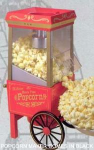 Nostalgia Electrics OFP 501 Old Fashion Movietime Popcorn Maker, Hot Air Popper, Includes Measuring Kernel Dispenser, Makes Light and Healthy Snacks