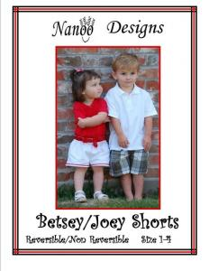 Nanoo Designs Betsey Joey Reversible and Non Reversible Shorts Pattern