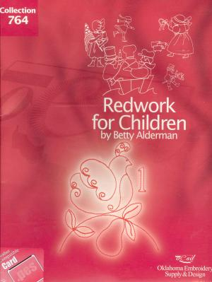 OESD 764 Redwork Children Betty Alderman Collection Embroidery Card pes Format