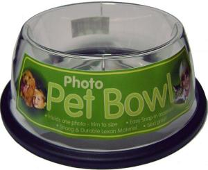 Acrylic Custom Photo or Kiwi Paper Pet Bowl (Small)