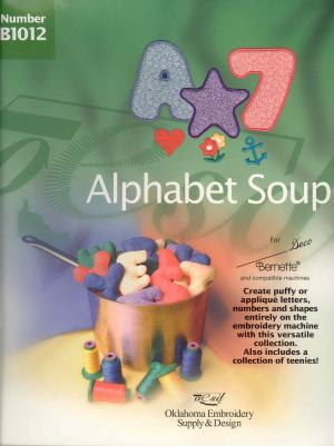 OESD B1012 Alphabet Soup Lettering Embroidery Card
