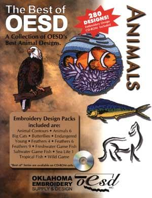OESD The Best Of Animals Embroidery Design CD